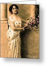 Vintage Lady I  Greeting Card