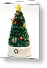 Vintage Lighted Christmas Tree Decoration Greeting Card