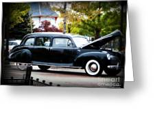 Vintage Lincoln Limo II Greeting Card