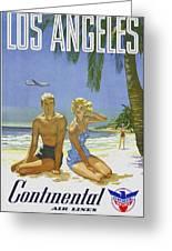 Vintage Los Angeles Travel Poster Greeting Card