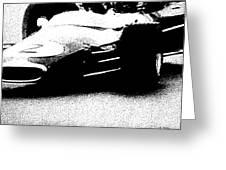 Vintage Lotus At Speed Greeting Card