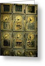 Vintage Mailboxes Greeting Card