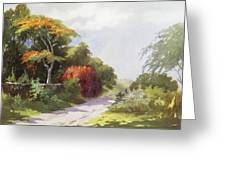 Vintage Manoa Valley Greeting Card