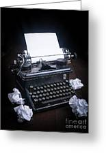 Vintage Manual Typewriter Greeting Card
