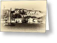 Vintage Marseille Sailing Greeting Card
