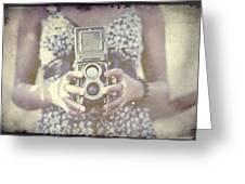 Vintage Medium Format Camera Greeting Card