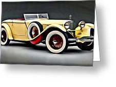 Vintage Mercedes Convertible Greeting Card