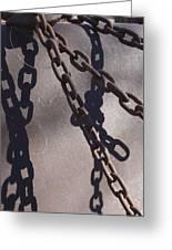Vintage Metal Chains Greeting Card