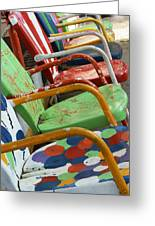 Vintage Metal Outdoor Chairs Greeting Card