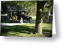 Vintage Moments Ford Tudor Model A Greeting Card