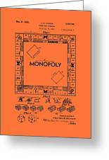 Vintage Monopoly Game Patent Greeting Card