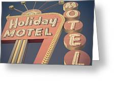 Vintage Motel Sign Holiday Motel Square Greeting Card