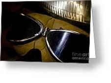 Vintage Motorcycle Goggles Greeting Card