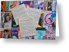 Vintage Music Sheets No.2 Greeting Card
