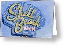 Vintage Neon- Shell Beach Inn Greeting Card