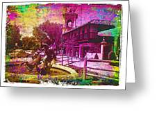 Vintage Neptune Fountain Kansas City Greeting Card