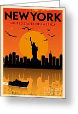 Vintage New York Poster Greeting Card