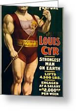 Vintage Nostalgic Poster 8061 Greeting Card