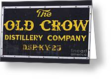 Vintage Old Crow - D008693 Greeting Card