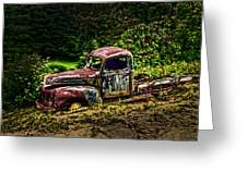 Vintage Old Forty's Pickup Greeting Card