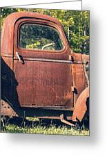 Vintage Old Rusty Truck Greeting Card