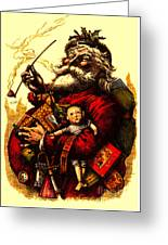 Vintage Original Coca Cola Red Santa Claus Poster Greeting Card