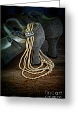Vintage Pearls And Shoes Greeting Card