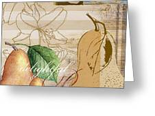 Vintage Pears I Greeting Card by Paul Brent