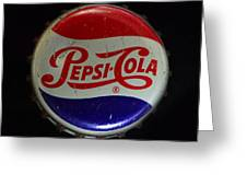 Vintage Pepsi Bottle Cap Greeting Card
