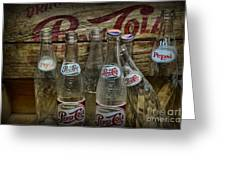 Vintage Pepsi Crate And Bottles Greeting Card