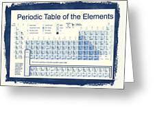 Vintage Periodic Table Of The Elements Greeting Card by Dan Sproul