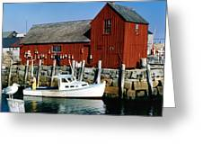 Fishing In Rockport Maine 1970's Greeting Card