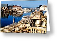 Lobster Traps In Maine Greeting Card