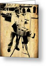 Vintage Photographer Tintype Greeting Card