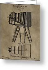 Vintage Photographic Camera Patent Greeting Card
