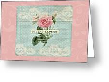 Vintage Pink Roses Greeting Card
