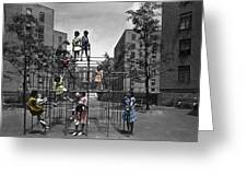 Vintage Playground Greeting Card