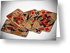 Vintage Playing Cards Art Prints Greeting Card