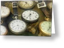 Vintage Pocket Watches Greeting Card