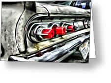 Vintage Pontiac Taillights Greeting Card