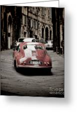 Vintage Porsche Greeting Card by Karen Lewis