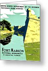 Vintage Poster - Fort Marion Greeting Card