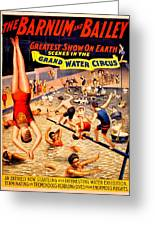 Vintage Poster - Circus - Barnum Bailey Water Greeting Card