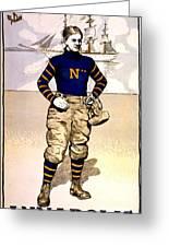 Vintage Poster - Naval Academy Midshipman Greeting Card