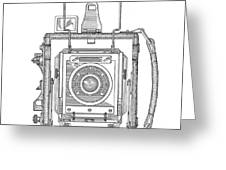 Vintage Press Camera Patent Drawing Greeting Card