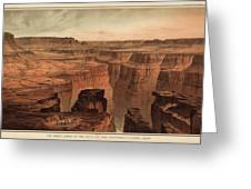 Vintage Print Of The Grand Canyon By William Henry Holmes - 1882 Greeting Card