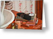 Vintage Reading Glasses Still Life Art Prints Greeting Card