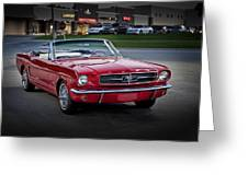 Vintage Red 1966 Ford Mustang V8 Convertible  E48 Greeting Card