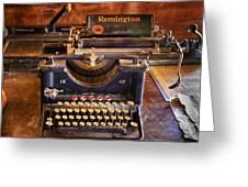 Vintage Remington Typewriter  Greeting Card