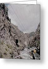 Vintage Rio Grande Royal Gorge By Lynn Bramkamp Greeting Card